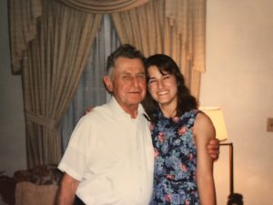 Author Suzanne Nelson and her grandfather in 1994