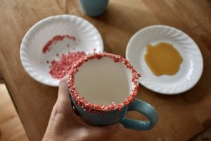 The Peppermint Bits Around the Cup