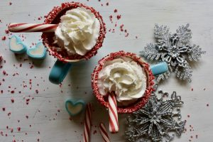 Whipped Cream and Peppermint Stick