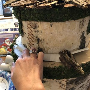 Making the roof of a fairy house