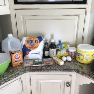 Ingredients for YOU'RE BACON ME CRAZY cupcakes