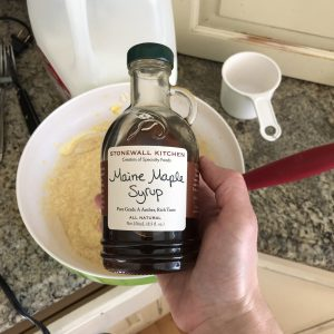 Maple syrup adds wonderful flavor