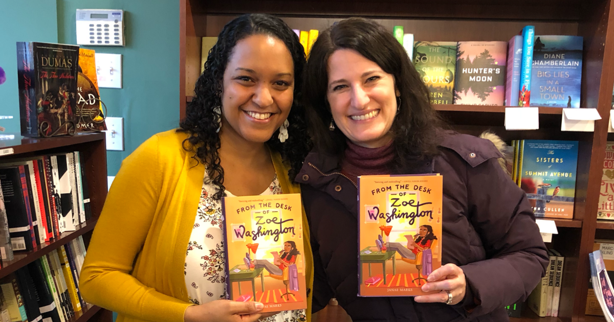 Middle-Grade Authors Suzanne Nelson and Janae Marks at Elm Street Books in New Canaan, CT