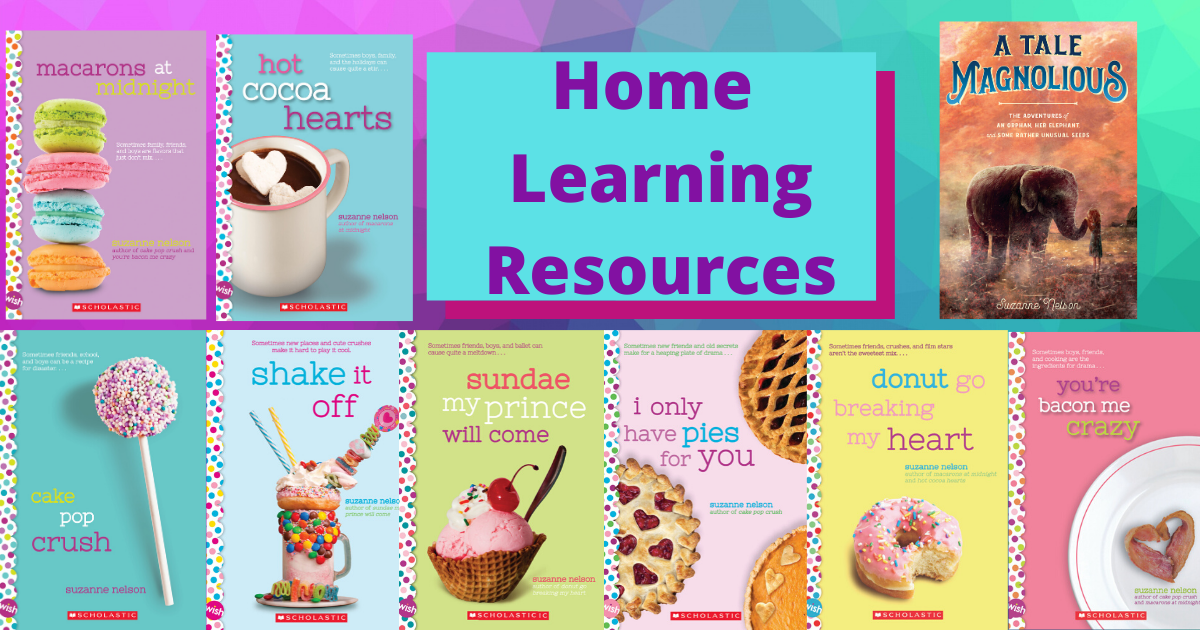 Author Suzanne Nelson's Home Learning Resources