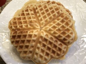 Hot off the waffle iron