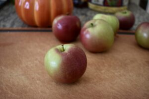 Fresh-picked fall apples
