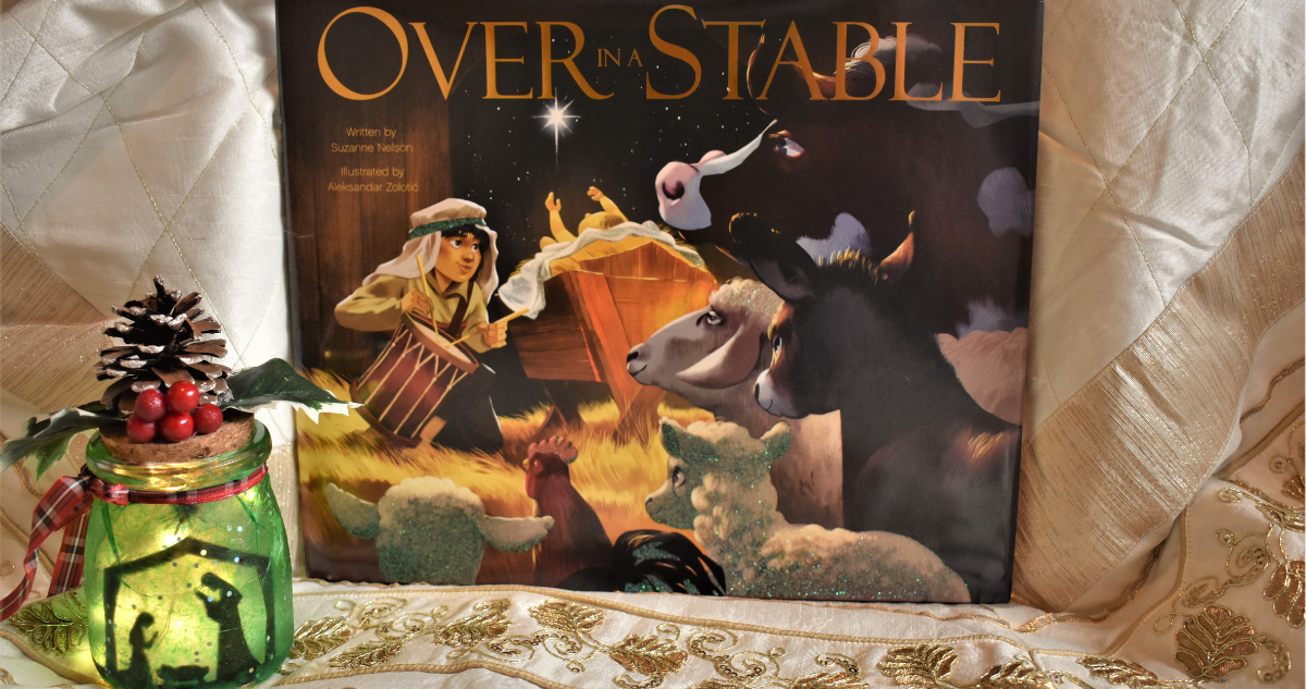 OVER IN A STABLE Nativity Nightlight Craft