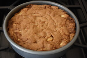 Piping hot apple cake