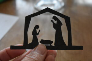 The cut-out nativity silhouette