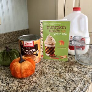 Ingredients for a Pumpkin Spice Supreme Coffee