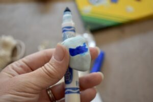 Coloring your clay with markers
