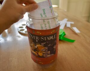 Fill your jar with activity cards