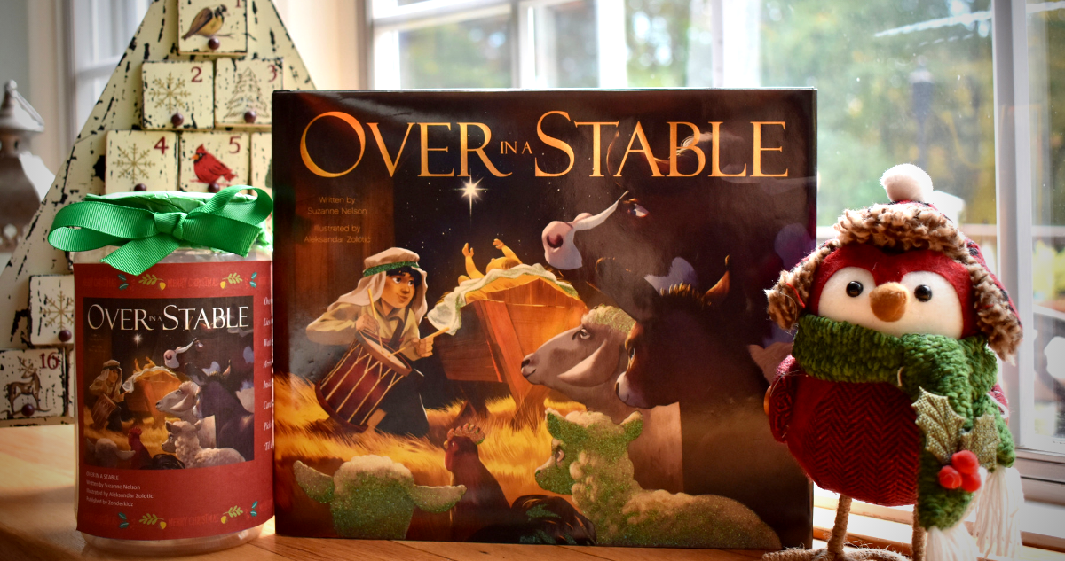 OVER IN A STABLE Advent Jar Craft